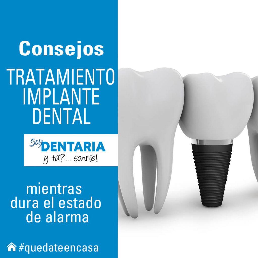 Consejos tratamiento implante dental